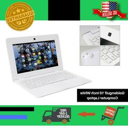 10 Inch White Computer Laptop PC Android 4.4 Dual Core Noteb