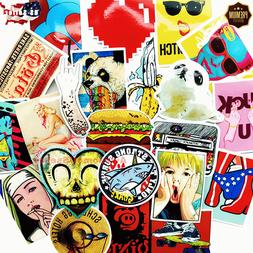 100 Skateboard Stickers Color Vinyl Laptop Luggage Decal Dop