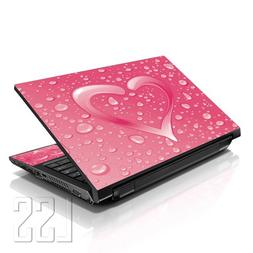 "LSS Laptop 17-17.3"" Skin Cover with Colorful Pink Heart Patt"