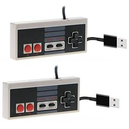 CC&SS 2 Packs USB Controller for Classic Nintendo NES, USB F