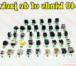 40 Kinds Lot Universal DC Power Jack Socket For HP Acer Asus