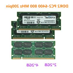 4GB 8GB DDR2 PC2-6400S 800 MHz 200pin Laptop SODIMM Memory R