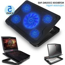 5-Fan Laptop Cooling Pad Best Gaming Cooler Notebooks Alienw