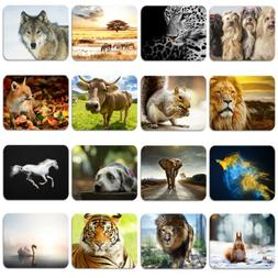 Animal Pattern Tiger Wolf Soft Rubber Mouse Pad Mat Laptop C