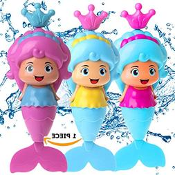 Conquer Baby - Mermaid Wind Up Floating Bath Water Toys for