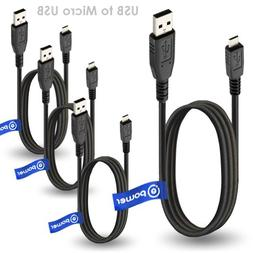 T POWER 4 x pcs Compatible with Micro-USB to USB Cable Compa