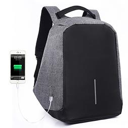 Yesurprise Anti-theft USB Charging Backpack Laptop Travel Bu