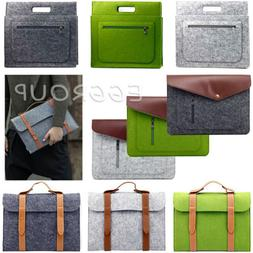 For Apple Mac MacBook Air Pro 11/12/13/15 Wool Felt Sleeve L