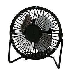 "Black USB Mini Fan 5V 2.5W Personal Cooler Desk 4"" Fan Lapto"