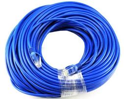BLUE Gold Plated 50FT CAT5 CAT5e RJ45 PATCH ETHERNET NETWORK