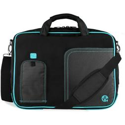 VanGoddy Blue Trim Laptop Bag for Dell Latitude / Inspiron /