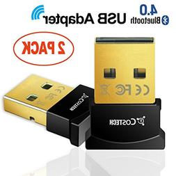 Bluetooth 4.0 USB Adapter, Costech Gold Plated Micro Dongle