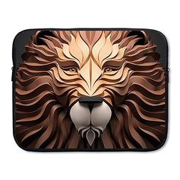 Business Briefcase Sleeve 3D Lion Laptop Sleeve Case Cover H