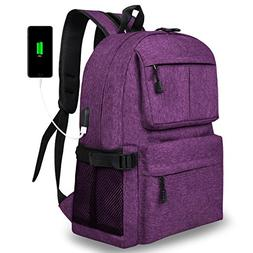 Casual Slim Laptop Backpack Lightweight School Bookbag Colle