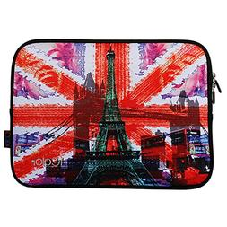 "Eiffel Tower iColor 15""-15.6"" inch Laptop Neoprene Sleeve Ca"