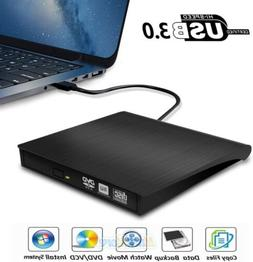 External USB 3.0 DVD-RW CD-RW Drive Writer Burner DVD Player