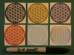'Flower of Life' Sticker Pack, Vinyl Decals, Sacred Geometr