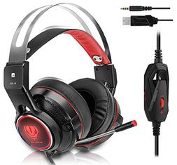 Gaming Headset for Xbox One, PS4, Surround Stereo Sound, 3.5