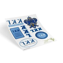 Kappa Kappa Gamma Traditional Crest and Letters Sticker Shee