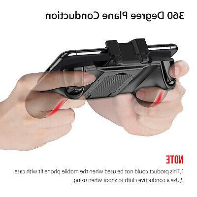 Mobile Gaming Trigger Gamepad with Cooling for PUBG iOS