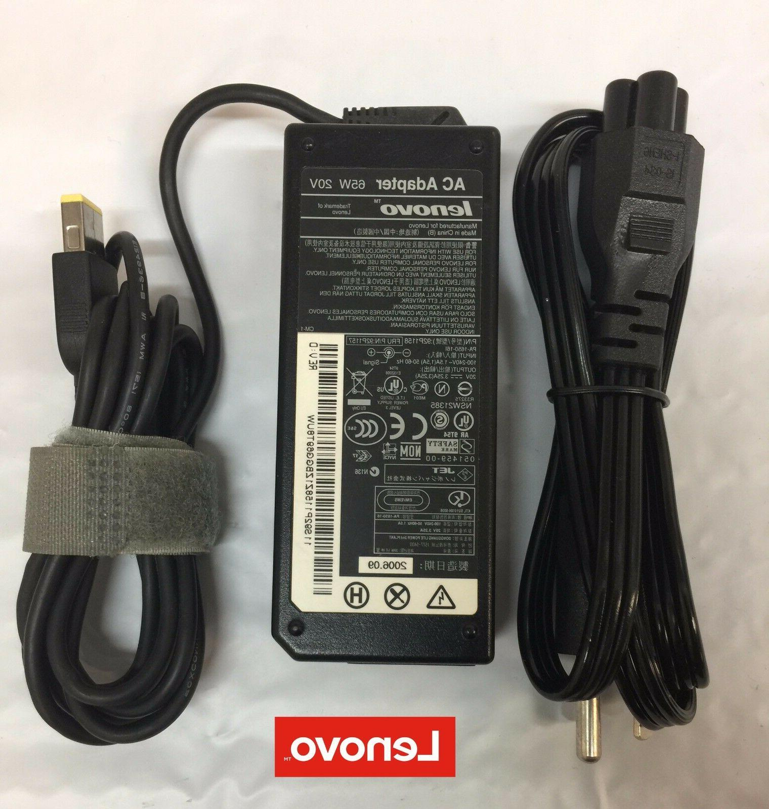 Lenovo 65W 20V 3.25A Laptop Charger AC/DC Power Adapter Slim