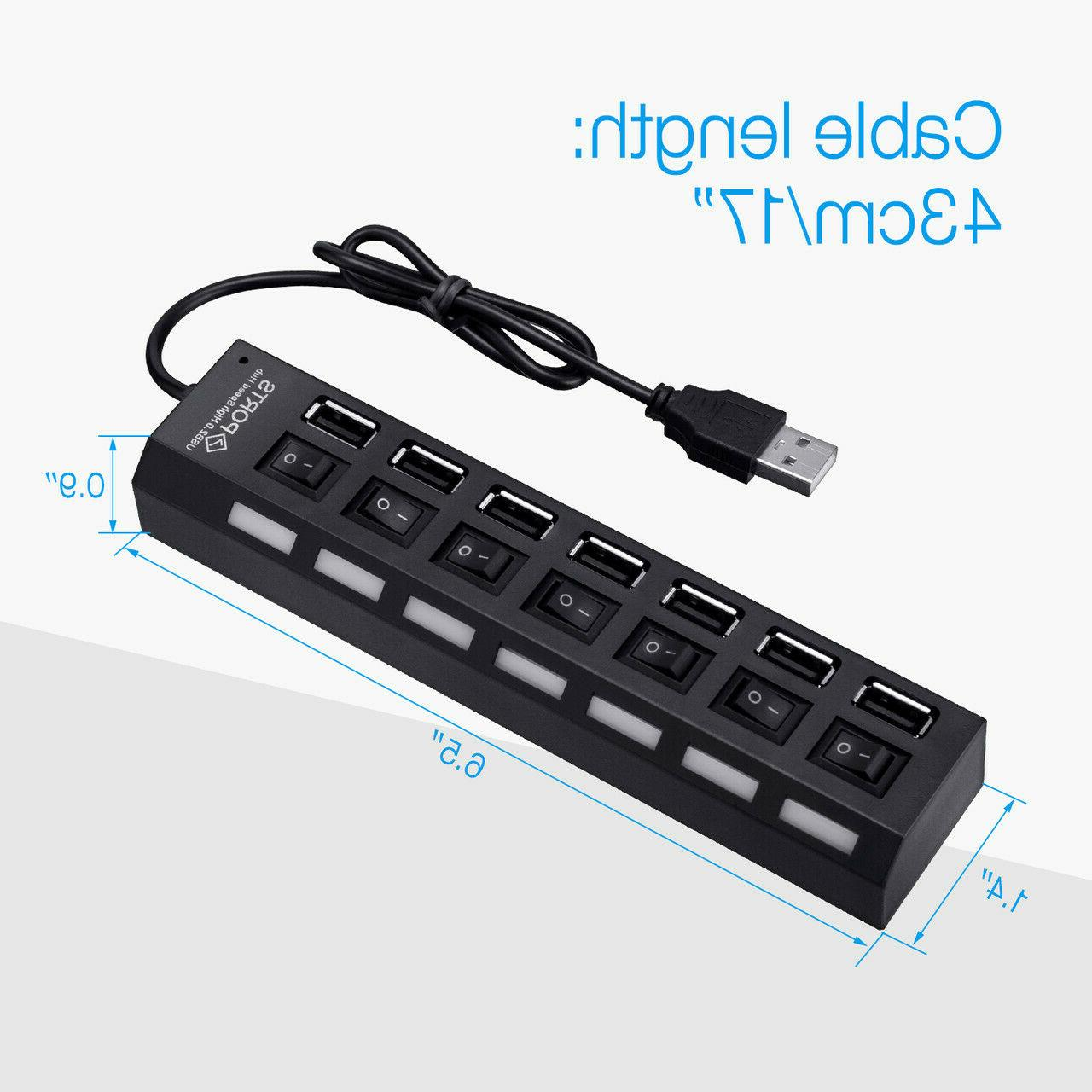 7-Port 2.0 Multi Charger + Speed Laptop US