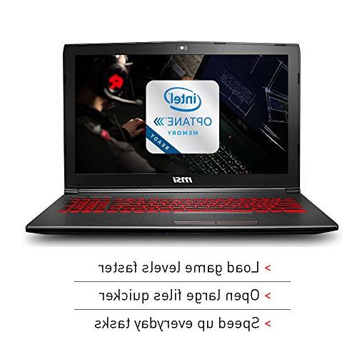 MSI Full HD Laptop PC i5-8300H, 1050Ti 4G, RAM, 16GB Intel Memory + 1TB HDD, Win 10 64 Steelseries Red Backlit
