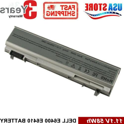 5200mAh Battery For Dell Latitude E6400 E6410 E6500 E6510 PT