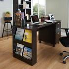 Espresso Home Office Desk Computer Laptop with Built-in Stor