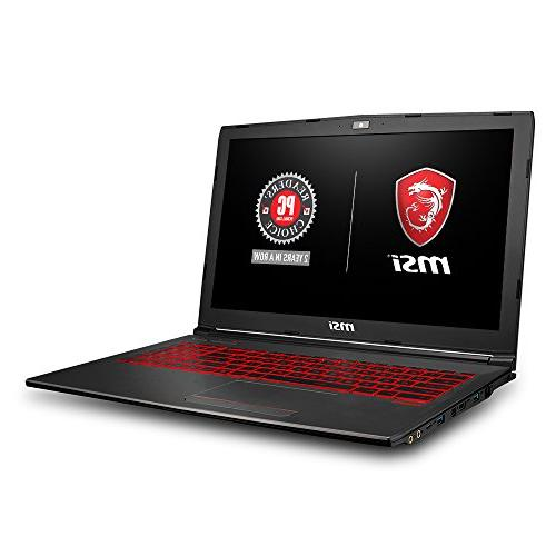 MSI GV62 8RD-200 Full HD Laptop i5-8300H, 1050Ti 8GB + 10 bit, Steelseries Red Keys
