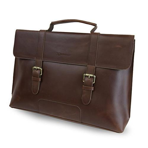 leather business messenger bag briefcase