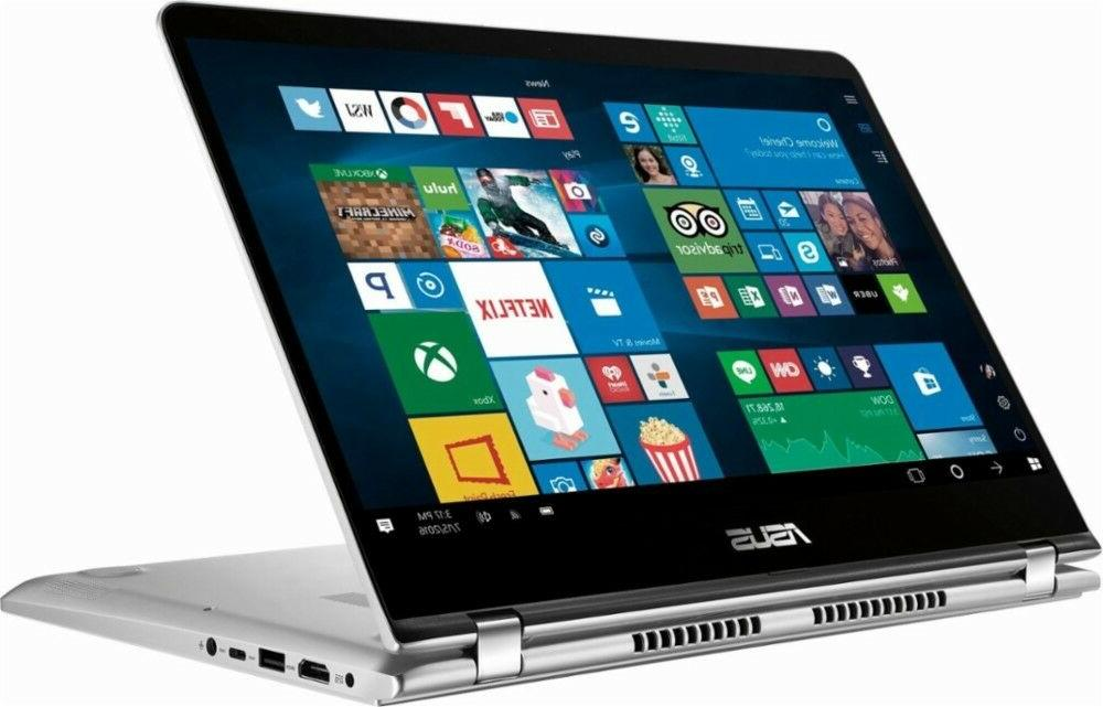 "New Asus 2-in-1 14"" FHD Touchscreen Laptop, Intel Quad-core"