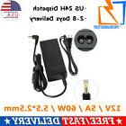 new LCD AC Power Supply Adapter DC 12 Volt 5 Amp  LCD Monito