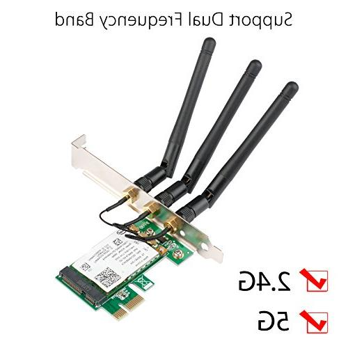 LinkStyle Express Adapter/Wi-Fi Adapter/Network Card, PCI -E Card for Desktop