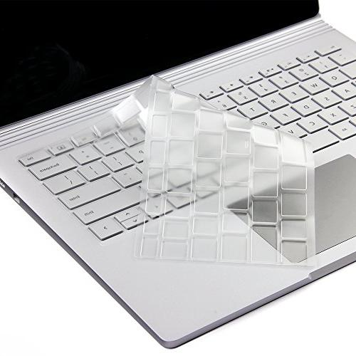 """Ultra Keyboard Cover for Laptop 2 2018, Laptop Surface 2 and 15"""", Keyboard Us"""