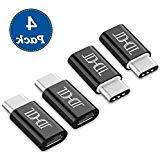 USB Type C Adapter 4 Pack, Arukas Data Syncing and Charging