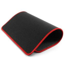 Non-Slip Mouse Pad Stitched Edge Red For Computer PC Gaming