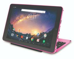 """Pink 11.5"""" 32GB 2-in-1 Tablet Computer with Detachable Keybo"""