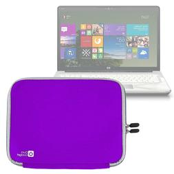 DURAGADGET Royal Purple 17 inch water resistant laptop carry