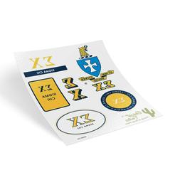 Sigma Chi Traditional Crest and Letters Sticker Sheet Decal