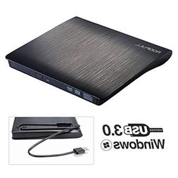 ROOFULL External DVD Drive USB 3.0, Portable CD DVD +/-RW Op