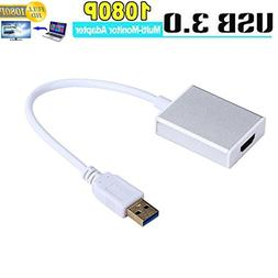 USB 3.0 to HDMI, USB to HDMI Adapter HD 1080P Video Graphics