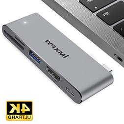 USB-C Multiport Adapter, iMXPW HEXATERA USB Type-C Hub with