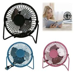 "USB Mini Fan 5V 2.5W Personal Cooler Desk 4"" Fan Laptop Note"