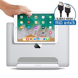 Vertical Laptop Stand - Bestand 2 in 1 Adjustable Macbook an