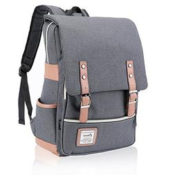 FIGROL Vintage Laptop Backpack,Large Capacity and Durable-Sc
