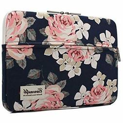 White Rose Patten Laptop Sleeve 14 Inch 14.0 Case Bag Comput