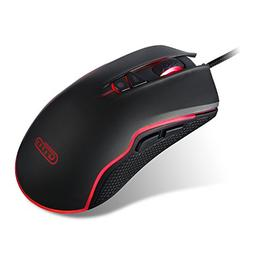 VyFky Wired Gaming Mouse, 5000 DPI Programmable High Precisi