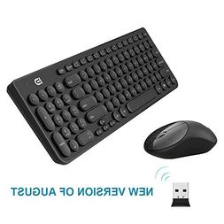 Wireless Keyboard and Mouse Combo, FD iK6630 2.4GHz Cordless